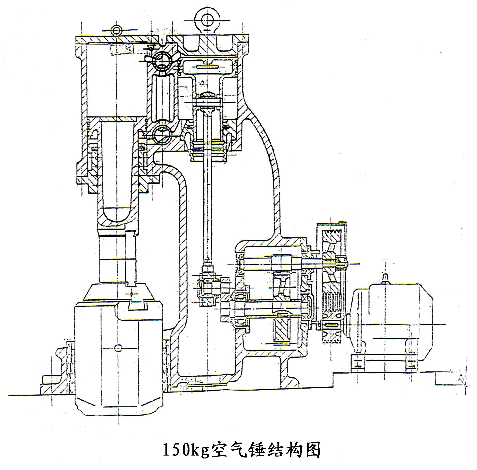 150公斤空气锤结构图